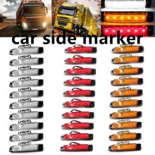 best price sale 30 pieces red yellow white 12V 24V 6LED Side Markers Light Lamp Car Truck Trailer BUS Rear lamp external Lights(China)