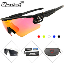 QUESHARK Polarized Cycling Sunglasses Uv400 TR90 Frame Bike Glasses for Men Women Cycling Eyewear Bicycle Goggles