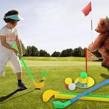 Children Kids Outdoor Sports Games Toys Multicolor Plastic Mini Golf Club Set