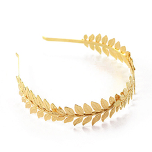 Fashion Gold Color Metal Baroque Leaf Headband Hairband For Women Wedding Hair Accessories Tiara Headpiece Jewelry