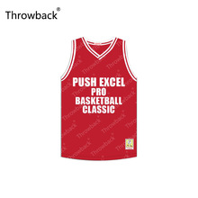 Isiah Thomas #11 Push Excel Classic Red Hoop Dreams Throwback Movie Basketball Jersey Stitched S-4XL(China)