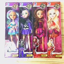 4pcs Funny joy Monster Ever After High Quality Dolls Original Fashion Joints Anime Model Toy for Girls Gift monster high dolls