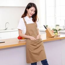 hot simple cotton Kitchen waterproof antifouling apron for women Chefs Cooking Apron Restaurant work apron Tablier Pinafore