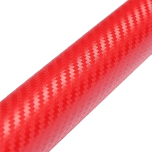 Buy DIY 30x127 3D Carbon Fiber Decal Vinyl Film Wrap Roll Adhesive Car Sticker Sheet Red for $2.20 in AliExpress store