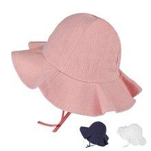 Bebé de verano al aire libre sombrero de cubo niños Floral imprimir Panamá  de sol playa 494019c51e8