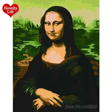 Mona Lisa No Frame Picture Painting By Numbers Wall Art DIY Digital Canvas Oil Paint Home Decoration For Living Room Coloring(China)