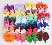 100pcs Grosgrain ribbons hair bows and clip girl hairstyle relationship between children's hairpin hair accessories
