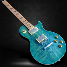 The new style of high-quality customized LP electric guitar, maple fingerboard, maple blue top electric guitar, free shipping