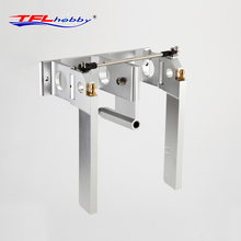 TFL Genuine Parts! CNC Aluminium Alloy 140 Suction Rudder / Twin Rudder / Yaw Rudder for 6.35mm shaft system RC Boat(China)