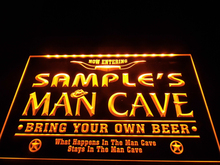 DZ003b- Name Personalized Man Cave Cowboys Bar LED Neon Beer Sign(China)