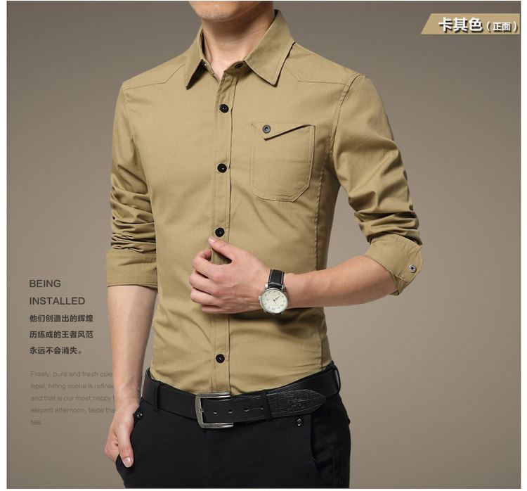 Famous Camisa Male Shirts Long Sleeve Men Shirt Fashion Casual Business Formal Shirt Chemise Homme Autumn Brand Clothing (7)