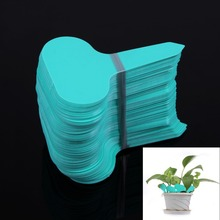 100Pcs T-type Plant Labels Plastic Nursery Garden Flower Thick Tag Marker Plant Labels Garden Ornaments Green(China)