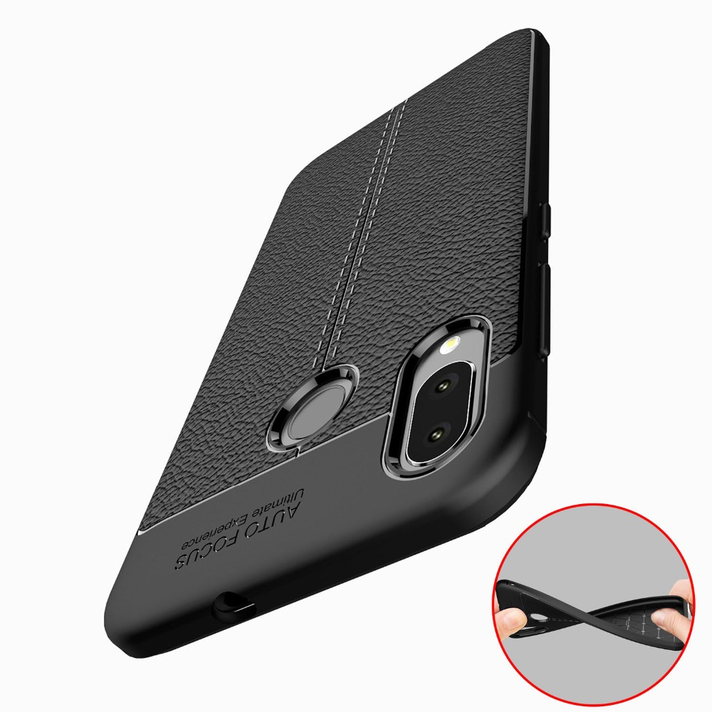 Lichee Texture Soft Silicone 5.5For ASUS Zenfone Max M1 ZB555KL Case For ASUS Zenfone Max M1 ZB555KL Cell Phone Back Cover Case(China)