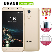 UHANS A6 3G Smartphone 5.5inch 1280*720pixel MTK6580 Quad-core Android 7.0 2GB RAM +16GB ROM 8.0MP Camera 4150mAh Mobile Phone - Official Store store