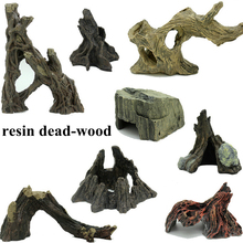 aquarium fish tank reptile box resin decoration ornament dead-wood driftwood 8 appearances for choose(China)