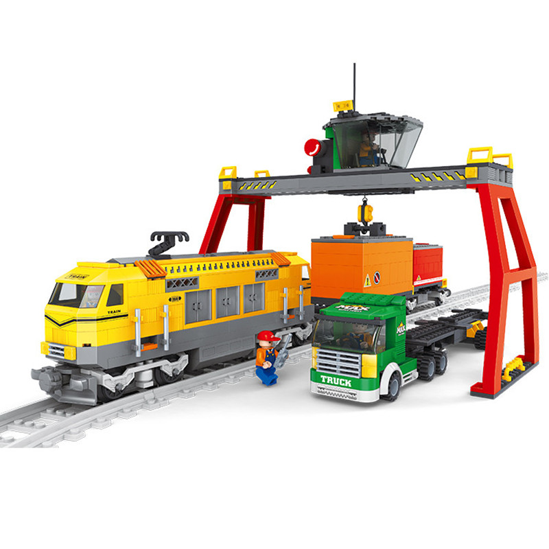 Shirly Train Loading and Unloading Station Building Blocks Train Transport games Compatible With toys Train Bricks Kids Gift<br><br>Aliexpress