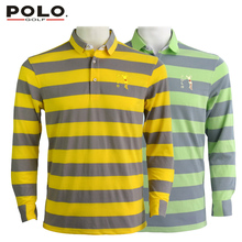 Brand Polo Authentic Golf Shirts Mens Clothes Long Sleeve Tshirt Tennis Golf Shirts for Men Polo De Golf Pour Homme Galvin Green(China)