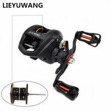 LIEYUWANG LC Black Spider Metal Shallow Spool Fishing Baitcasting Reel 6.3:1 Left Rght Hand Bait Casting Low Profile Reel