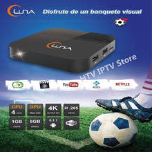 LUNA BOX HTV Latino Spainish Internet IPTV Box South American Live TV HD Streaming Box for Mexico/Argentina/Peru/Chile(China)