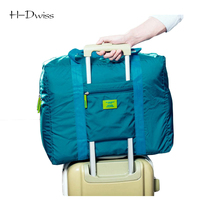 HDWISS Waterproof Nylon Pouch Folding Travel Bags Men Women Luggage Duffel Duffle Bag Carry on Hand Luggage Packing Cubes TB030(China)