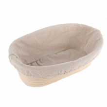 2017 New Arrival 3 Sizes Oval Dough Banneton Brotform Dougn Rattan Bread Proofing Proving Baskets H1