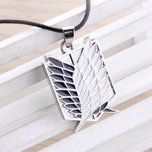 Metal Anime attack on the wings of freedom titanium necklace Shingeki no Kyojin cosplay necklace shell necklace necklace survey(China)