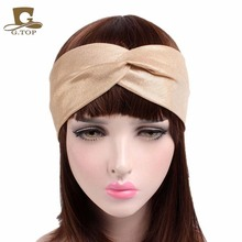 New Women Glitter Elastic Stretch Twist Headband Turban Headwrap Headwear Ladies Bandanas Twist Hair Bands Turbante(China)
