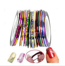 TZ0050 10pcs Nail Striping Tape Metallic Yarn Line 3d Nail Art Tool Color Rolls Nail Decals DIY Nail Tips Sticker Decoration