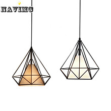 Modern Black Birdcage Pendant Lights Fixture for Dining Room Entryway Bar Living Room Restaurant Pendant Lamps(China)