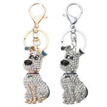 Luxury Cute Key Chain Girl Chic Keyring Bag Pendant Bag Car Decoration Puppy Key Holder Accessories(China)
