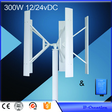 wind generator vertical Wind Turbine 300w with permanent magnet generator Combine with 12V /24V Option wind controller