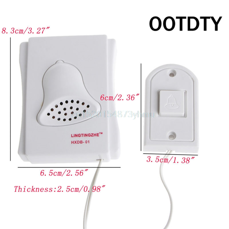 OOTDTY Door Bell Wired Electric Push Button Doorbell Button Chime Easy Installed #L057# new hot