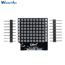 Matrix LED Shield V1.0.0 For WEMOS D1 Mini Digital Signal Output Module 8 X 8 Dot Board With Pins(China)