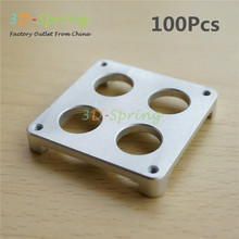 100Pcs 3D Printer Ultimaker Extruder Four hole Fixed Plate Extrusion Aluminum Alloy CNC Block Bracket High Quality(China)