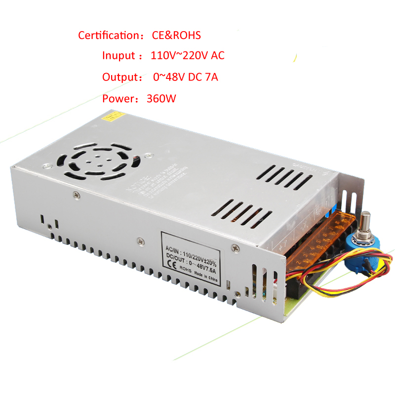 48V 360W Power Supply Speed Governor Speed Controller For 300W DC Spindle Motor CNC Machine<br><br>Aliexpress
