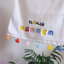 Cartoon Embroidered Bath Towel for Kids White Cute Colorful Animal Pattern Tassel Face Towels Soft Absorbent Home Towel(China)