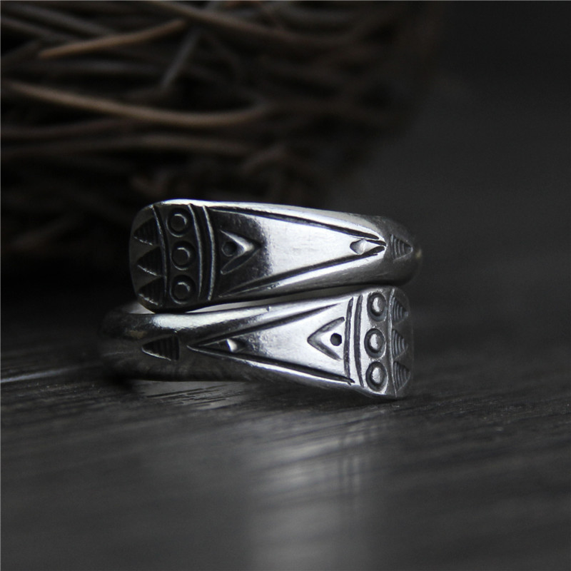 Thailand silver plated Handmade Ring Women \'s Sect...