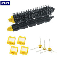 NTNT Free Post New Brush + 4 x Filter 3 armed Side Kit For i Robot Roomba 700 Series 760 770 780(China)