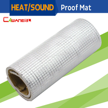 "Cawanerl 150CM x 100CM 60"" x 40"" Car Heat Shield Sound Deadener Insulation Mat Material Aluminum Foil Deadening Noise Control"