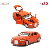 Collectible Alloy Diecast Car Model 1/32 Veyron 16C Galibier w/light&sound Pull Back Cars Model Kids Toys Gifts