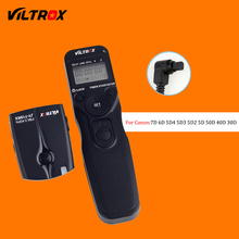 Viltrox JY-710-C3 Wireless Camera Timer Remote Control Shutter Release Cable for Canon 30D 40D 50D 7D 7D2 6D 5D Mark II III DSLR
