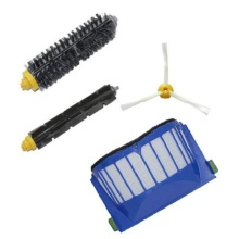 High Quality 1 Blue AeroVac Filter + 1 set main Brush kit +1 Side Brush for iRobot Roomba 600 Series 610 620 630 650 660