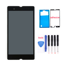 LCD Touch Screen Digitizer Assembly + Adhesive Tools For Sony Xperia Z L36H L36I LCD Screen C6606 C6603 C6602 Free shipping