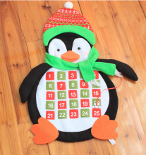 Christmas Penguin Advent Calendar Hanging Garland Christmas Penguin Toy Decor Gift Present Idea for kids children