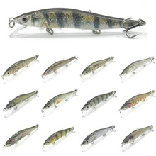wLure Minnow Crankbait Hard Bait Tight Wobble Slow Sinking Jerkbait Lifelike RealSkin Painting Fishing Lure HM262S(China)