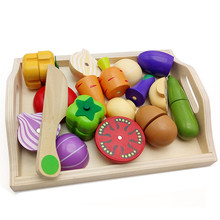 Baby Toy Kitchen Miniature Food Cooking for Children Role Play Educational Toys Classic Pretend Play Wooden Fruit Vegetable Toy