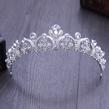 Silver Color Vintage Bride Wedding Hair Jewelry Rhinestone Pageant Quinceanera Crowns Crystal Prom Bridal Crowns And Tiaras