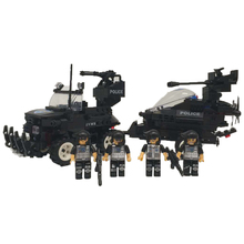 448PCS City SWAT Police Car Building Blocks Models 3D DIY Military Vehicle Toys for Children LegoINGlys Bricks Educational Toys(China)