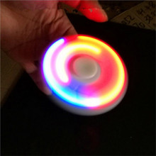 1 LED Light Fidget Spinner Finger ABS EDC Hand Spinner Tri For Kids Autism ADHD 5 Styles Anxiety Stress Relief Focus Handspinner