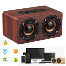 Wooden Wireless Bluetooth Speaker Portable HiFi Stero Home Theater Desktop Speakers For iPhone Xiaomi Loudspeaker Voice Box(China)